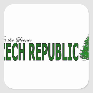 Visit The Scenic Czech Republic Square Sticker