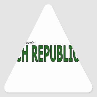 Visit The Scenic Czech Republic Triangle Sticker
