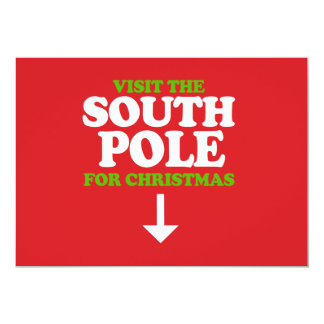 Visit the South Pole 5x7 Paper Invitation Card