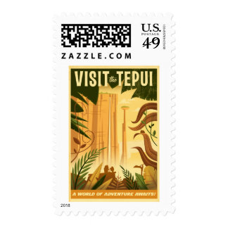 Visit the Tepui! - Disney Pixar UP Movie poster Postage Stamp