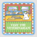 Visit the Veterinarian Stickers