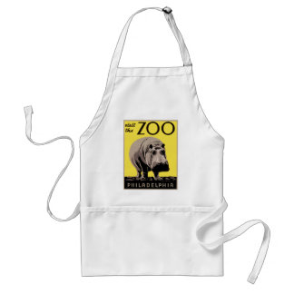 Visit The Zoo Adult Apron