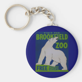 Visit The Zoo!! Basic Round Button Keychain