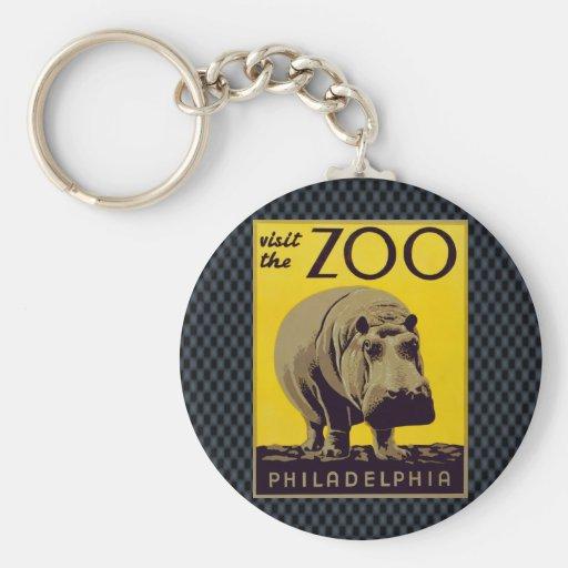 Visit The Zoo!! Keychain