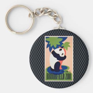 Visit The Zoo!! Basic Round Button Keychain