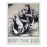 Visit The Zoo Penguin 1936 WPA Poster