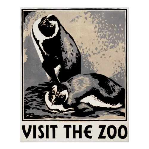 Visit the Zoo -  Penguin WPA