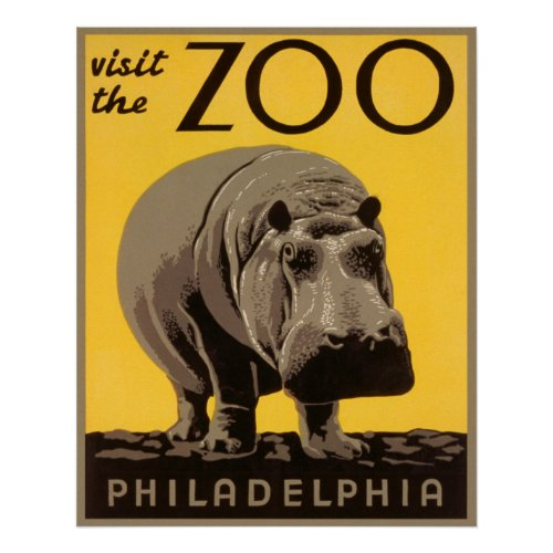 Visit the Zoo - Philadelphia WPA
