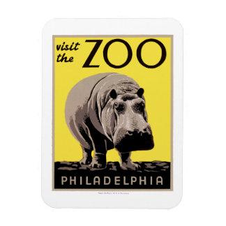 Visit The Zoo Rectangular Photo Magnet