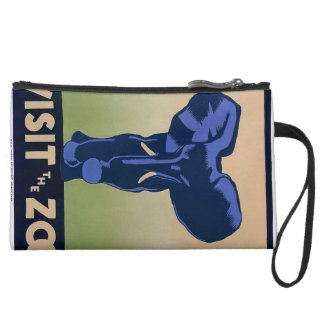 Visit the Zoo Suede Wristlet
