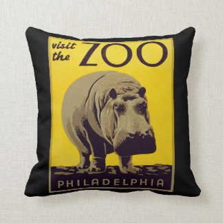 Visit The Zoo! Throw Pillow