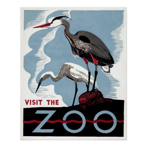 Visit the Zoo -  Travel WPA