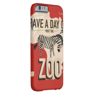 Visit The Zoo Vintage Travel Poster. Barely There iPhone 6 Case