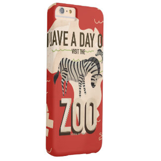 Visit The Zoo Vintage Travel Poster. Barely There iPhone 6 Plus Case