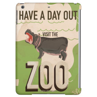 Visit The Zoo Vintage Travel Poster iPad Air Cases