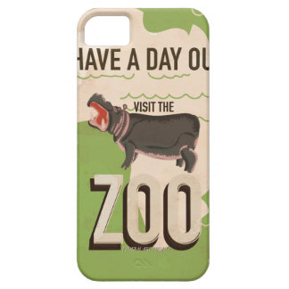 Visit The Zoo Vintage Travel Poster iPhone SE/5/5s Case