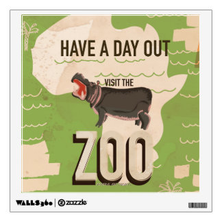Visit The Zoo Vintage Travel Poster. Room Decals