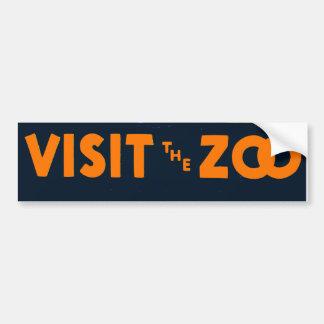 Visit The Zoo Vintage Vector Bumper Sticker