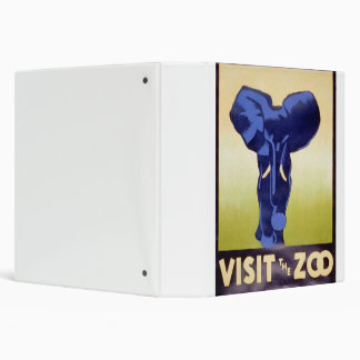 Visit the Zoo Vintage WPA FAP Poster Elephant 3 Ring Binder