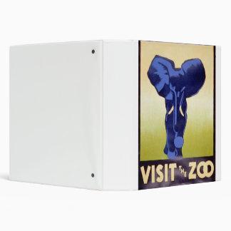 Visit the Zoo Vintage WPA FAP Poster Elephant 3 Ring Binder
