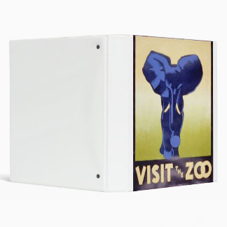 Visit the Zoo Vintage WPA FAP Poster Elephant Binder