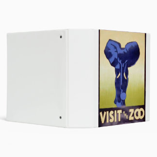 Visit the Zoo Vintage WPA FAP Poster Elephant Binder