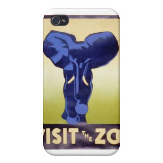 Visit the Zoo Vintage WPA FAP Poster Elephant iPhone 4/4S Case