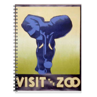 Visit the Zoo Vintage WPA FAP Poster Elephant Spiral Notebook