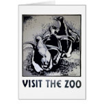 Visit the Zoo - WPA Poster -
