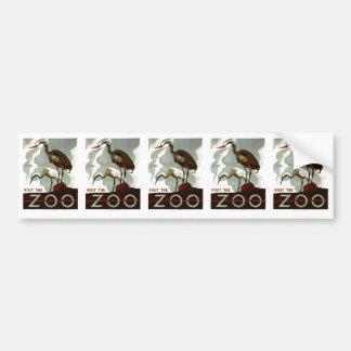 Visit the Zoo - WPA Poster - Car Bumper Sticker