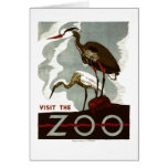 Visit the Zoo - WPA Poster - Card