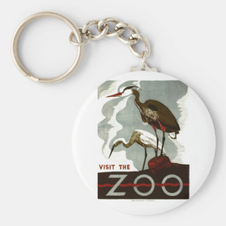 Visit the Zoo - WPA Poster - Keychain