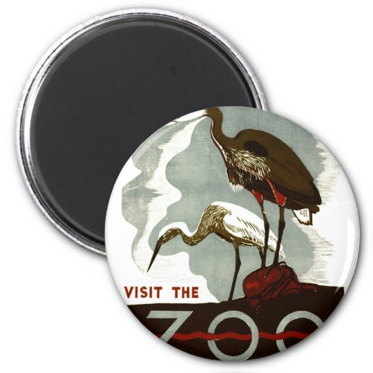 Visit the Zoo - WPA Poster - Magnet