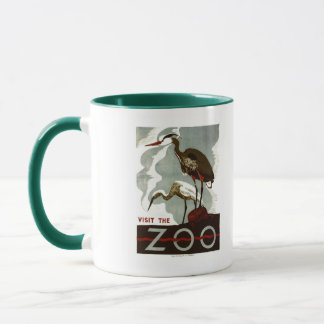 Visit the Zoo - WPA Poster - Mug