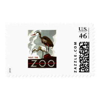 Visit the Zoo - WPA Poster - Stamp