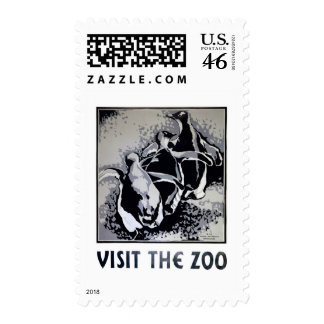 Visit the Zoo - WPA Poster - Stamps