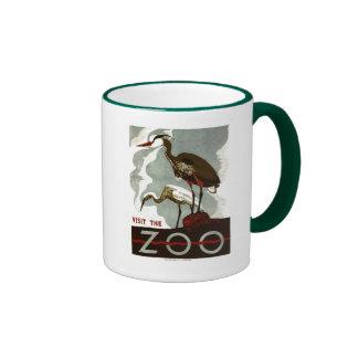 Visit the Zoo - WPA Poster - Ringer Mug