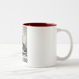 Visit the Zoo - WPA Poster - Two-Tone Coffee Mug