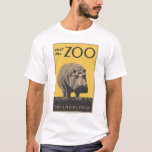 """Visit the Zoo"" WPA Style Design T-Shirt"