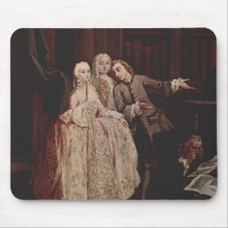 Visit to a library by Pietro Longhi Mouse Pads