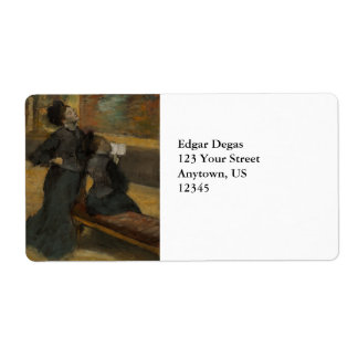 Visit to a Museum by Edgar Degas Label