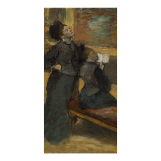 Visit to a Museum by Edgar Degas Personalized Photo Card