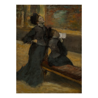 Visit to a Museum by Edgar Degas Poster