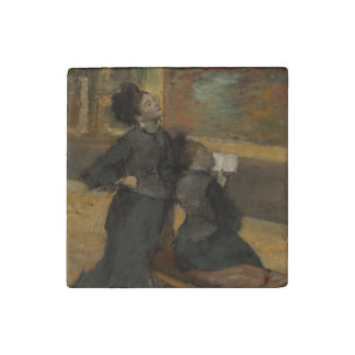 Visit to a Museum by Edgar Degas Stone Magnet