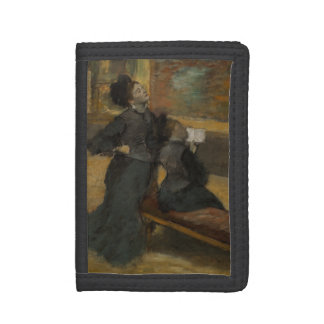Visit to a Museum by Edgar Degas Tri-fold Wallet