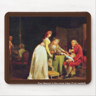 Visit To Grandfather By Boilly Louis-Léopold (Best Mouse Pad