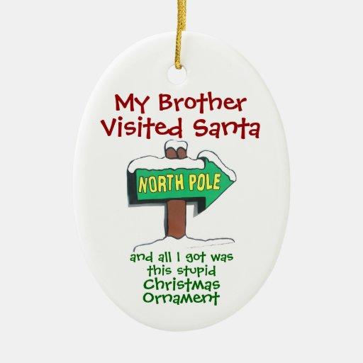 Visit to Santa Christmas Tree Ornaments
