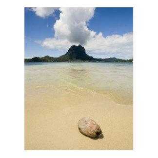 Visit to small picnic island in lagoon at Bora 2 Postcard