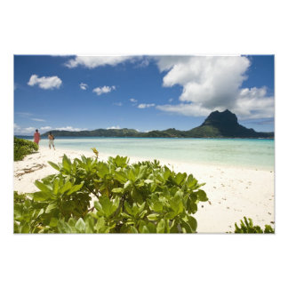 Visit to small picnic island in lagoon at Bora 3 Photo Print