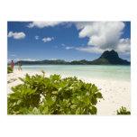 Visit to small picnic island in lagoon at Bora 3 Postcard